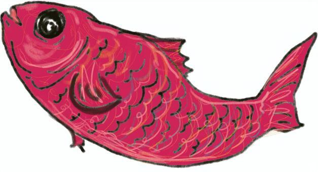一條紅色魚的例證