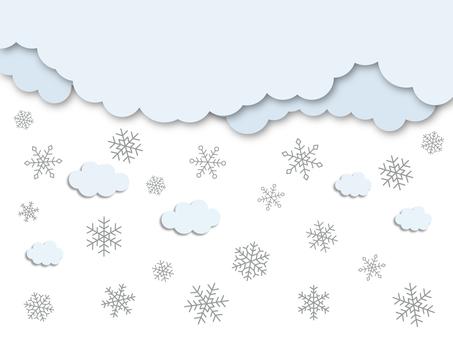 Glitter beautiful snow cloud background