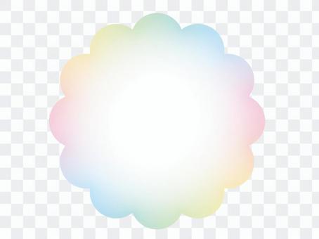 彩虹色mokumoku框架