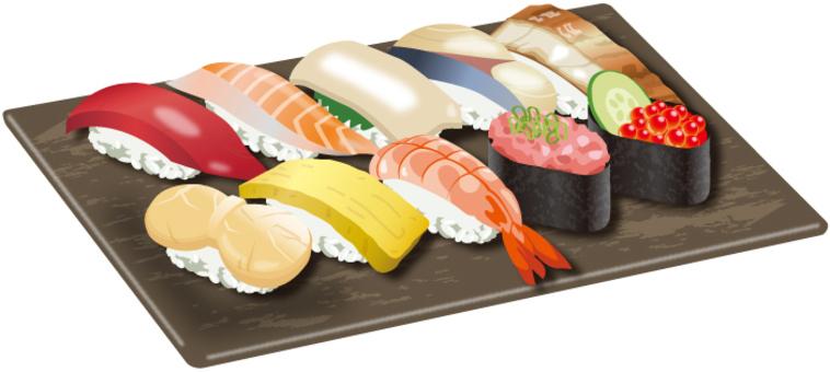 壽司10塊方盤