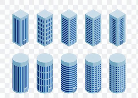 vector: skyscraper set