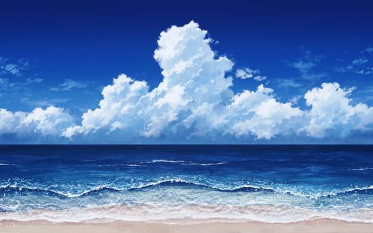 Sea and cumulonimbus