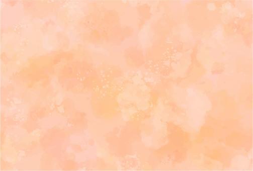 水彩背景橙色(深色)