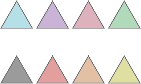 三角形 set_pastel_bordered