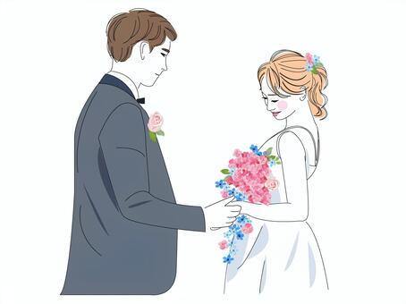婚禮新娘和新郎