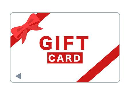 紅色禮品卡的插圖