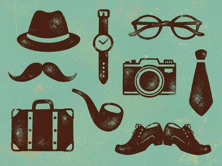 紳士物品貼紙
