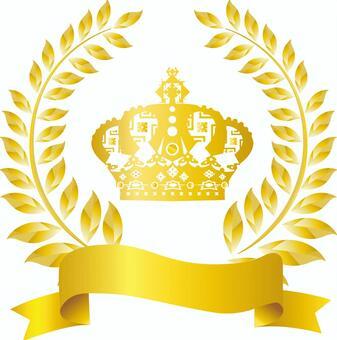 Free illustration Free material Gold crown frame frame