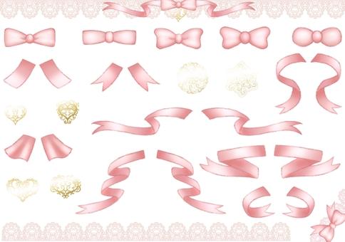 Ribbon illustration set