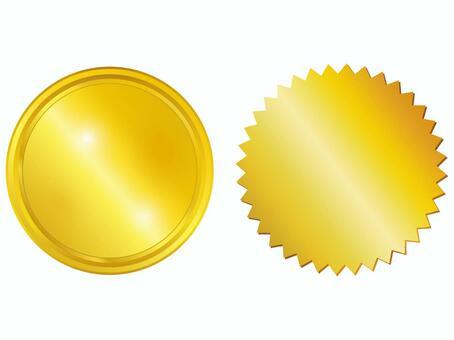 Gold gold emblem label framework picture
