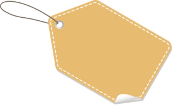 可愛的標籤框架平原棕色
