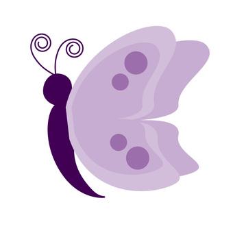 ちょうちょう(紫)