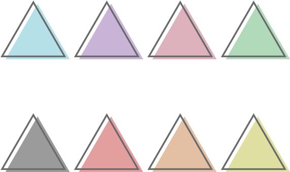 三角形 set_color 懸垂_粉彩