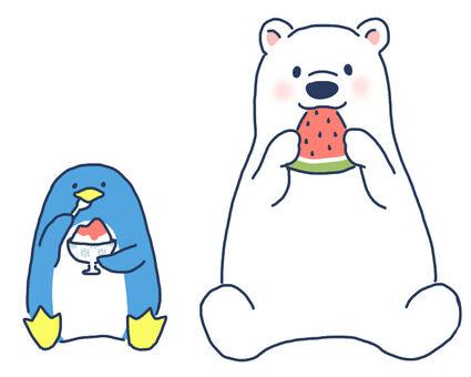 白くまとペンギン