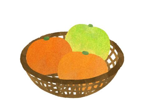 Mandarin orange basket / various oranges