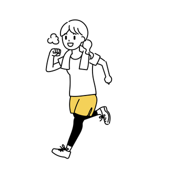 跑步的女人