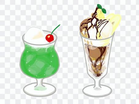 Cream soda and chocolate parfait