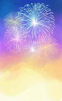Fireworks and night sky ①