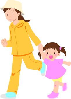 與父母和孩子一起跑2