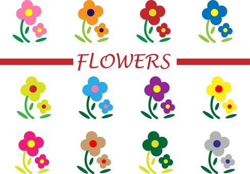 Simple flower set