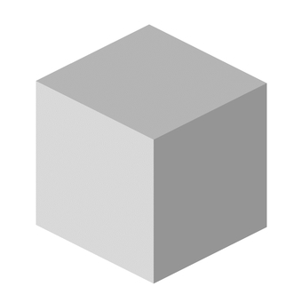 多維數據集3D多維數據集灰色透明