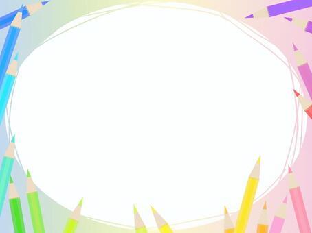 彩色的鉛筆框架2