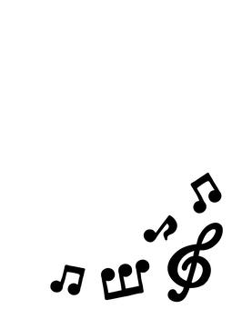 黒音符フレーム4縦