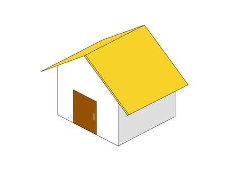 住宅新建築沒有使用的窗口黃色