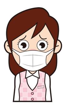 Female company worker (mask)
