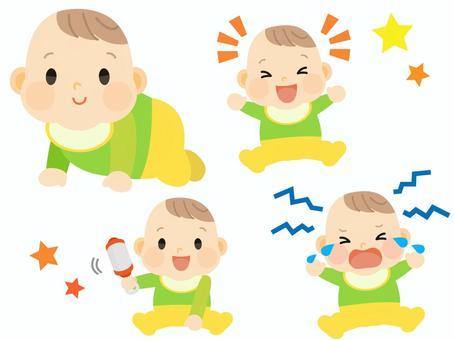 寶貝喜歡笑哭玩