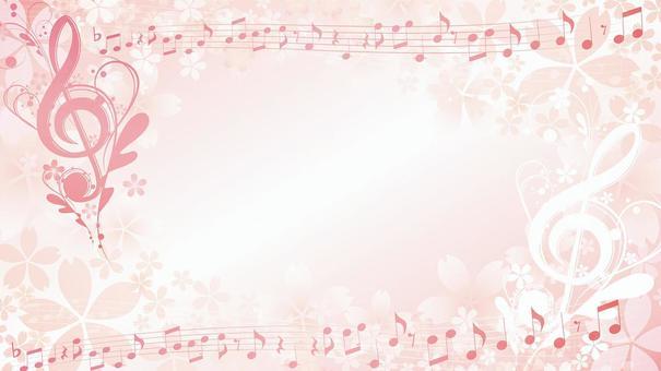High definition screen size Elegant cherry music frame