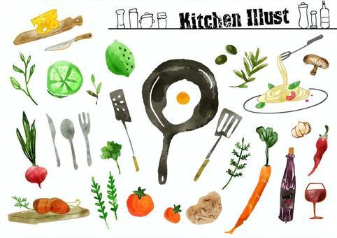 蔬菜等時尚廚房用品
