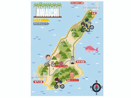 淡路島自行車地圖