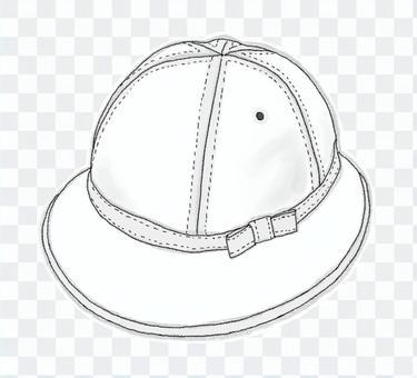 學校帽4(黑色和白色)