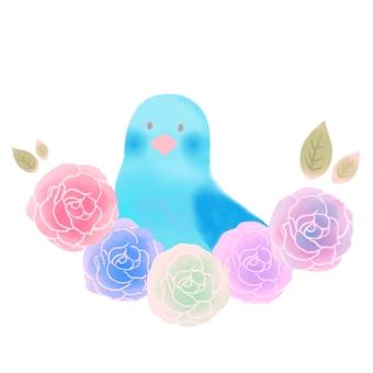 藍鳥和玫瑰