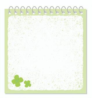 Four-leaf notepad
