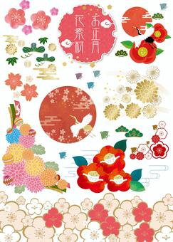 New Year flower material