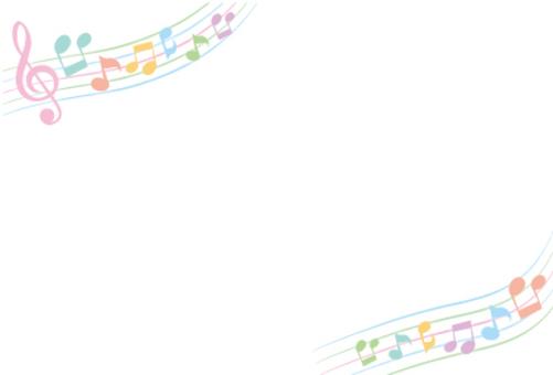 Pastel notes frame