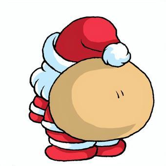 Santa Claus rear view