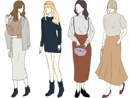 Fall / Winter Lady Girls Fashion