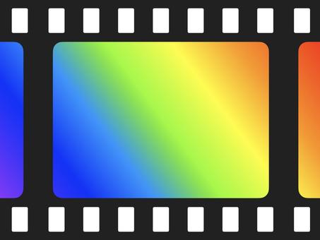 Rainbow color gradation film frame (large)