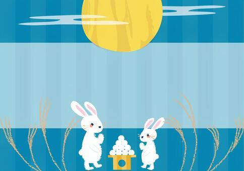月亮看兔子