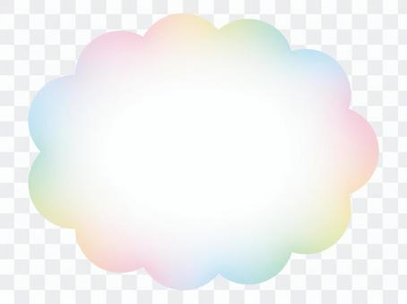 彩虹色雲架
