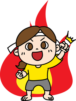 Good luck cheering girl headband burning