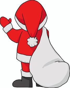 聖誕老人後方