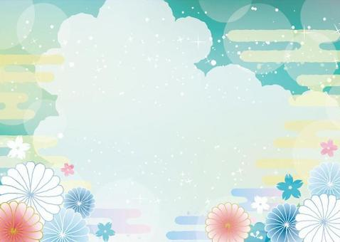 Japanese pattern background material 4