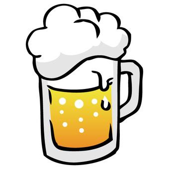 冷啤酒泡沫01的插圖