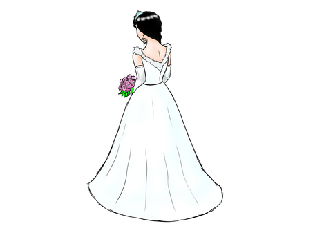 The back of the bride