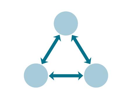 藍色簡單三方關係圖_02