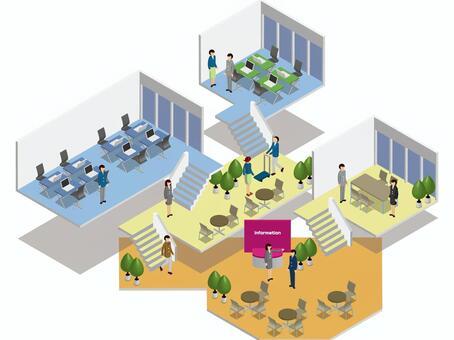 オフィスのフロアマップ